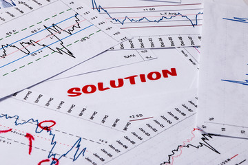 solution concept displayed in graphs and charts