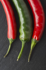 Red amd Greem Chili Peppers