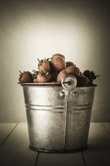 Vintage Pail of Strawberries