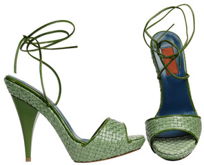 Female sandals with high heel