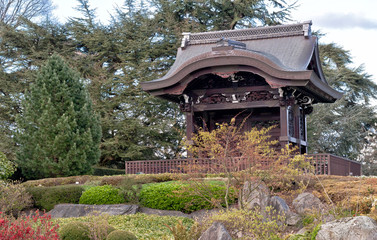 Japanese Gateway in Kew gardens, London