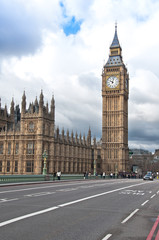 The Elizabeth Tower, known as Big Ben in London