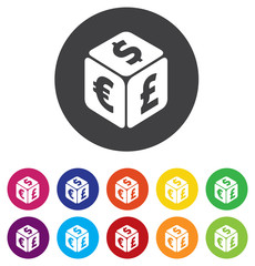 Currency exchange sign icon. Currency converter symbol. Money la