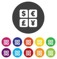 Currency exchange sign icon. Currency converter symbol. Money