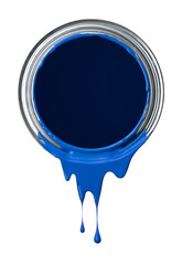 blue paint drips