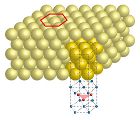 metal crystal lattice hexagonal