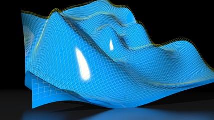 Waved math surface