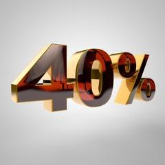 3d golden percent - 40