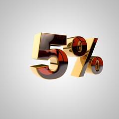 3d golden percent - 5