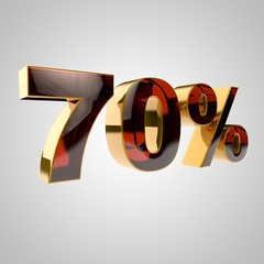 3d golden percent - 70