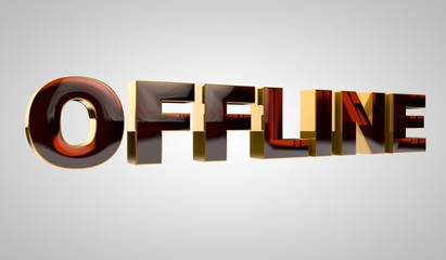 3d golden word - offline