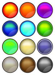 12 vector illustration button