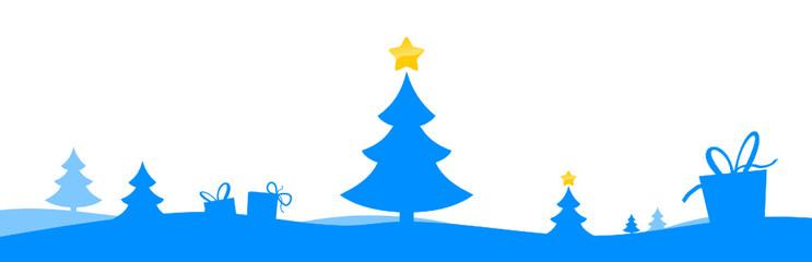 Weihnachtsland blau