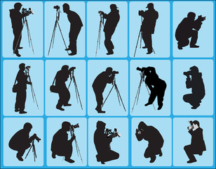 fifteen photographers on blue background