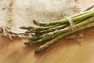 Bunch of a green young asparagus
