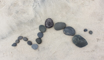 Pebble Design on Sand 2