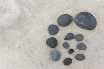 Pebble Design on Sand 1