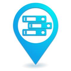 archives sur symbole localisation bleu