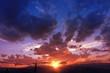Mountain Range Sunset - 68196163