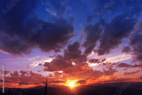 Mountain Range Sunset