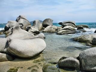 Rocce granitiche nel Lido di Orrì a Tortolì