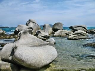 Scogli di granito del Lido di Orrì a Tortolì