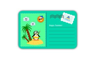 Cartolina estiva di buone vacanze