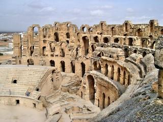 Anfiteatro di El Jem in Tunisia