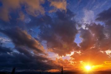 Sunset Cloudscape Backdrop