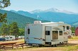 canvas print picture - RV Fifth Wheel Camping