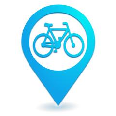 piste cyclable sur symbole localisation bleu