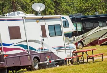 RV Motorhomes Camping