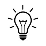 Light bulb icon - 68197136