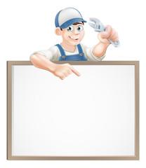 Plumber or mechanic sign