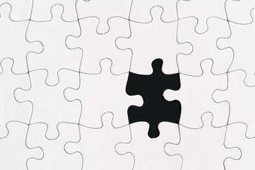 blank jigsaw puzzle one missing piece