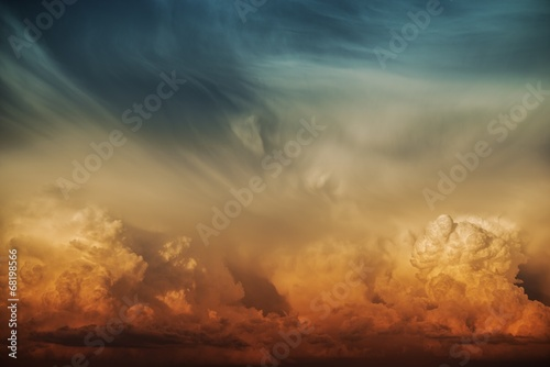 Stormy Cloud Nature Background