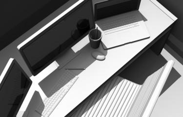 Designer Workstation Desk