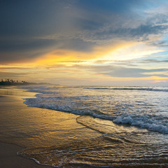 beautiful sunrise over the ocean