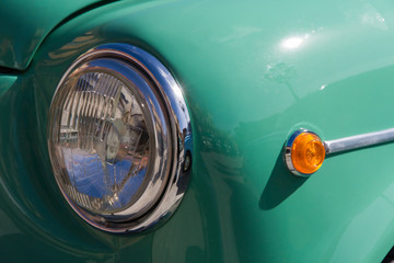 Headlight and Flashing signal of Classic Car