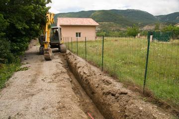 engin de chantier construction