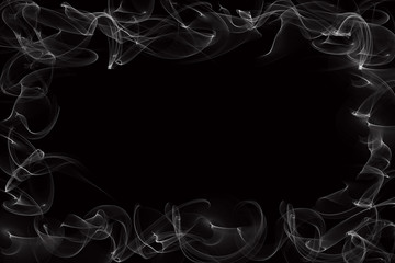 smoke border on black background