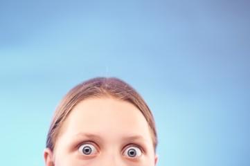 Shocked teen girl