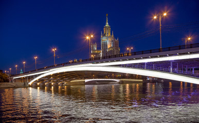 Bolshoy Ustinsky Bridge in Moscow, Russia