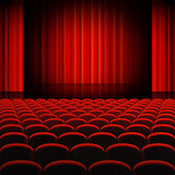 Fototapeta Red Curtains Theater Stage