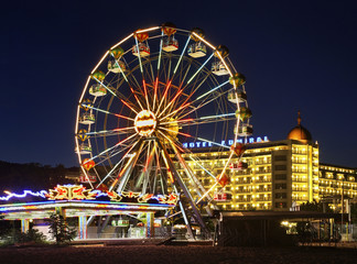 Ferris wheel in Golden Sands. Bulgaria