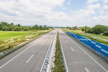 Highway - bird's eye view