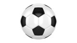 Soccer ball spins around its axis. Seamless looped animation poster