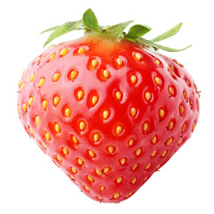Strawberry berry isolated on white background with clipping path