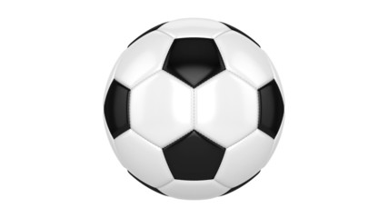 Soccer ball spins around its axis. Seamless looped animation