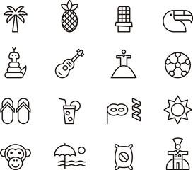 Brazil icons